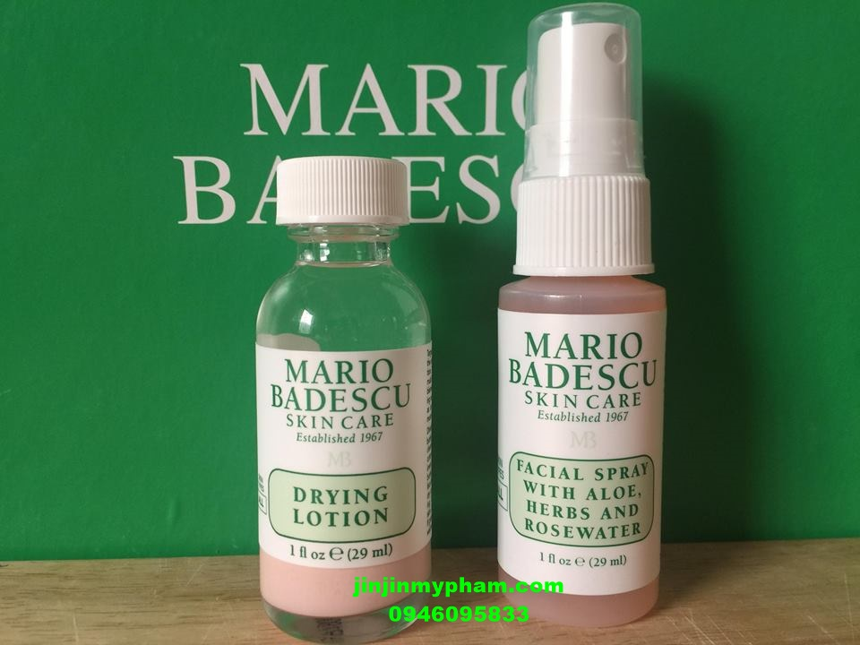 Combo drying lotion + xịt dưỡng mario badescu