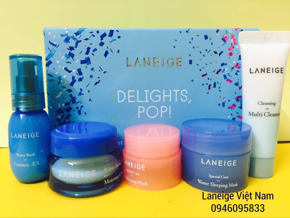 Set Dưỡng Da Laneige Delights, Pop! Trial Kit Holiday Edition (5 items)