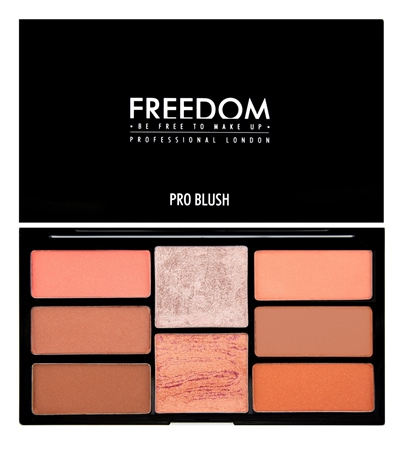 Freedom Makeup London Pro Blush Palette Peach and